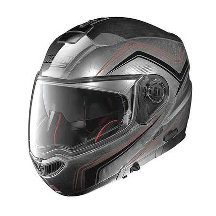 Casque N104 Absolute Como N-Com scratched chrome Nolan