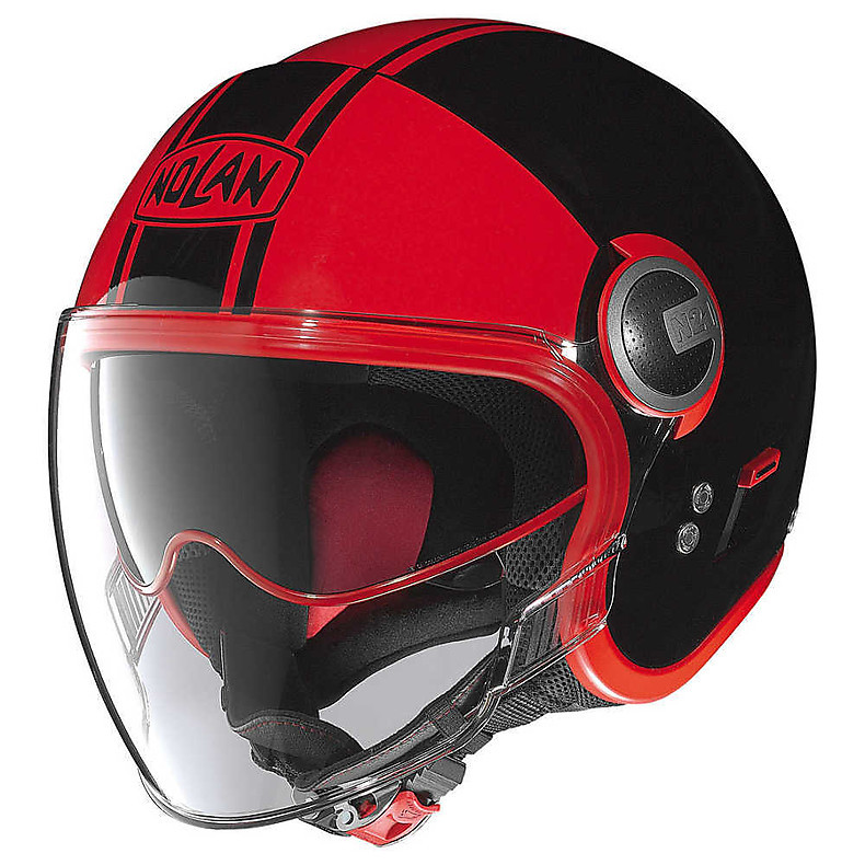 Casque N21 Visor Duetto glossy noir-rouge Nolan