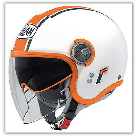 Casque N21 Visor  Duetto Orange Nolan