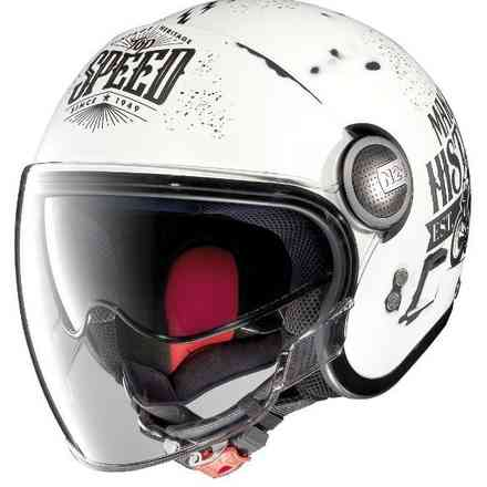 Casque N21 Visor Motogp Legends Scratched blanc Nolan