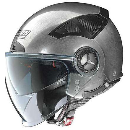 Casque N33 Classic scratched chrome Nolan