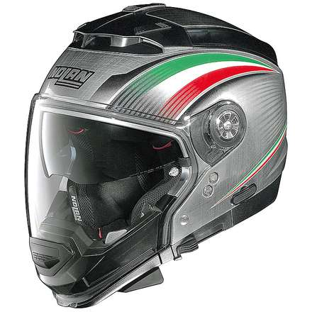 Casque N44 Evo  Italy Scratched Chrome Nolan