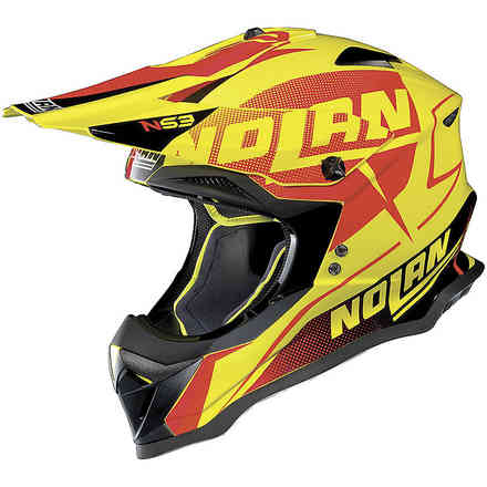 Casque N53 Sidewinder Jaune Orange Noir Nolan