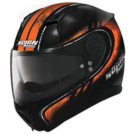Casque N87 Fulgor N-com orange Nolan