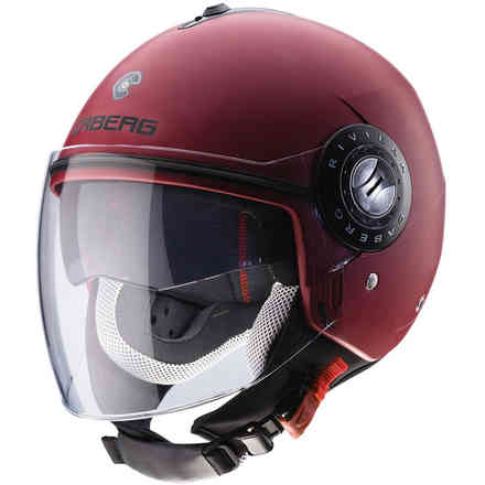 Casque Riviera V3 Matt rouge Wine Caberg