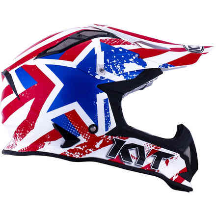 Casque Strike Eagle Patriot bleu rouge KYT