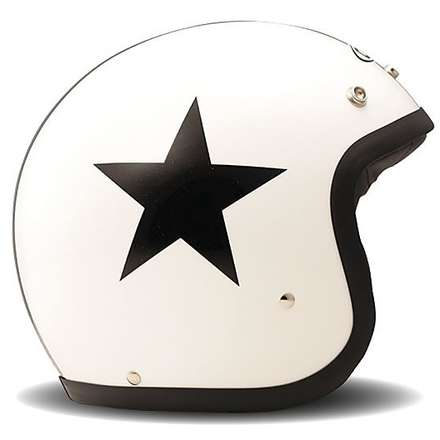 Casque Vintage Star White DMD