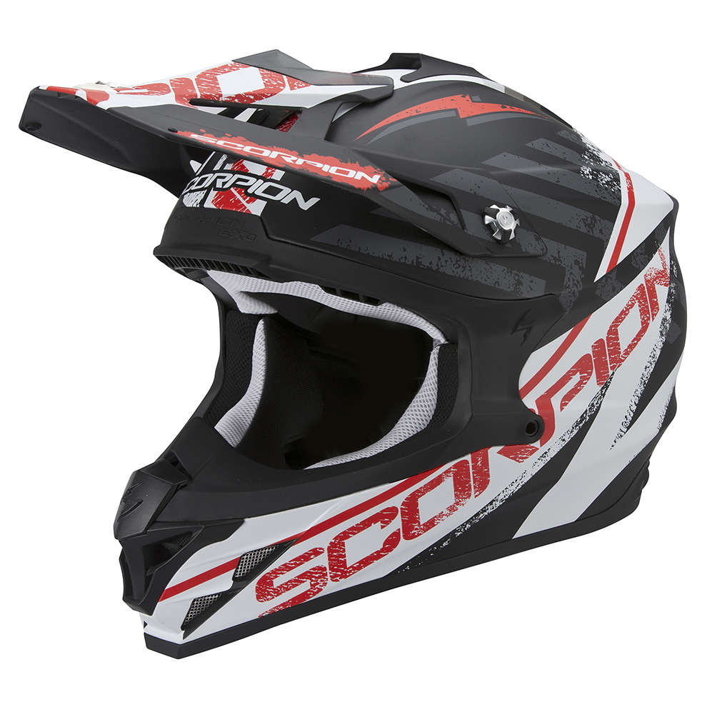 Casque VX-15 Evo Air Gamma noir-blanc-rouge Scorpion