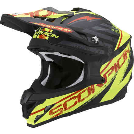Casque VX-15 Evo Air Gamma noir-jaune fluo Scorpion