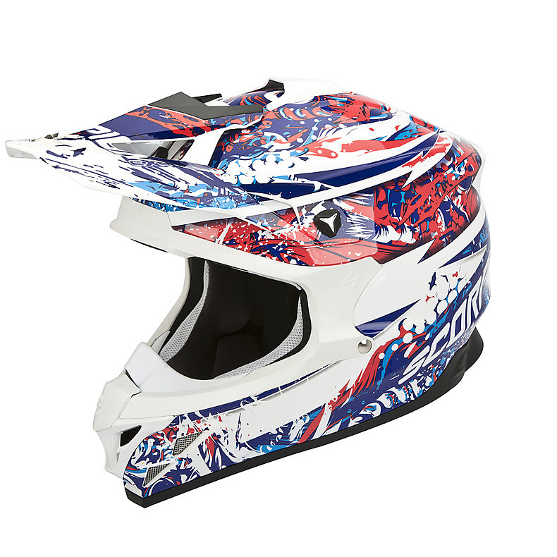 Casque VX-15 Evo Air Horror Blanc-Rouge-Bleu Scorpion