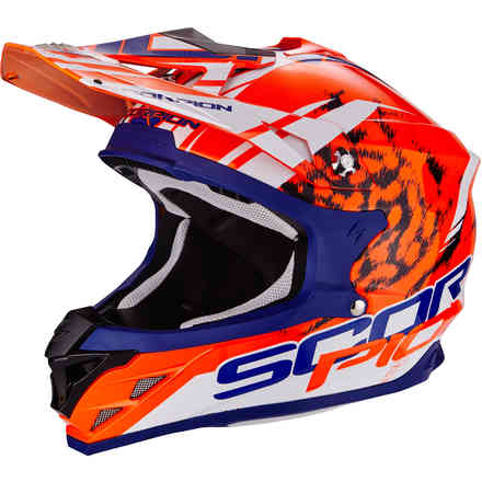 Casque Vx-15 Evo Air Kistune Orange bleu blanc Scorpion