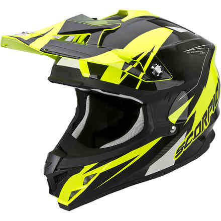 Casque VX-15 Evo Air Krush jaune-noir Scorpion