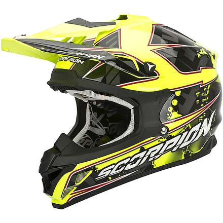Casque VX-15 Evo Air Magma Noir-Jaune Fluo Scorpion