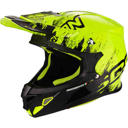 Casque Vx-21 Air Mudirt jaune Scorpion