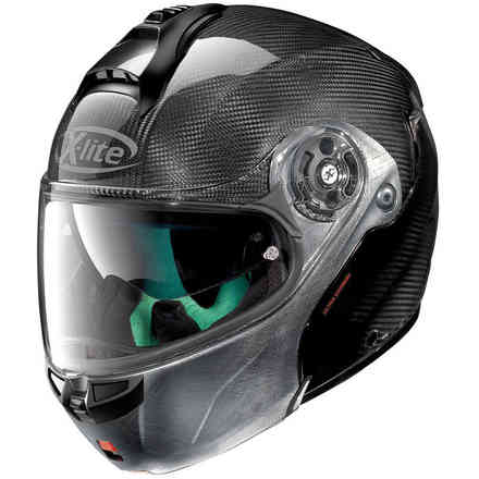 Casque X-1004 Ultra carbon scratched chrome X-lite