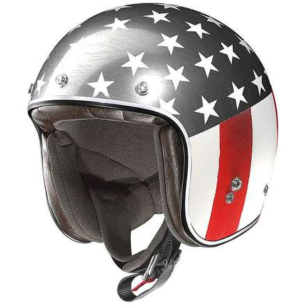 Casque X-201 Flagstaff Scratched Chrome X-lite