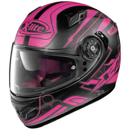 Casque X-661 Honeycomb rose X-lite