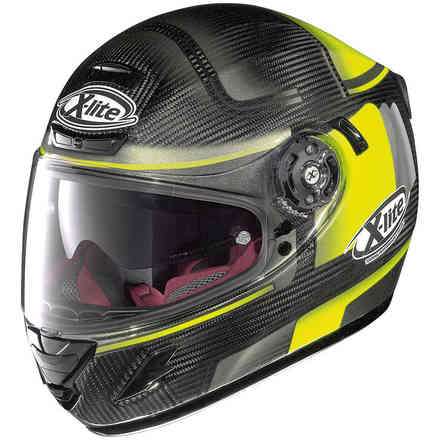 Casque X-702 Gt Ultra Carbon Ofenpass jaune X-lite