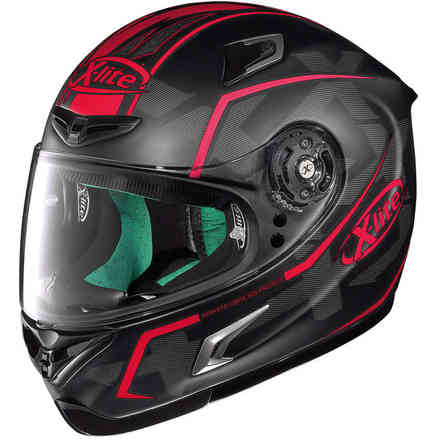 Casque X-802rr Marquetry rouge X-lite