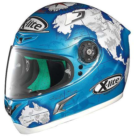 Casque X-802RR Replica C.Checa bleu X-lite