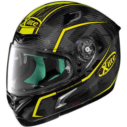 Casque X-802rr Ultra Carbon Marquetry jaune X-lite