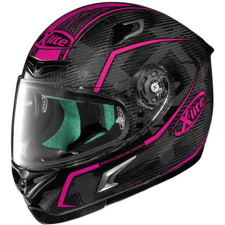 Casque X-802rr Ultra Carbon Marquetry rose X-lite