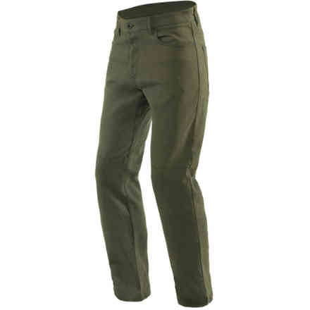 Casual Regular Tex Pants Olive Green Dainese