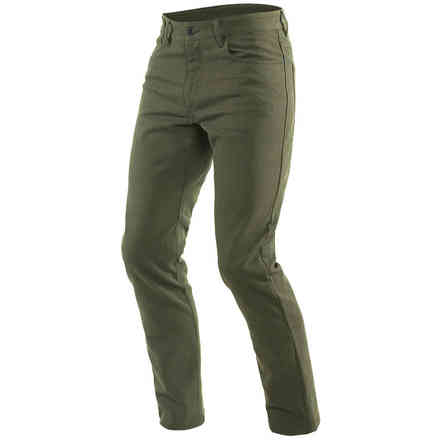 Casual Slim Tex Pants Olive Green Dainese