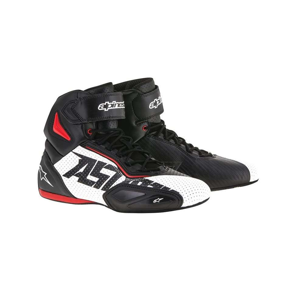 Chaussures Faster 2 vented noir-blanc-rouge Alpinestars