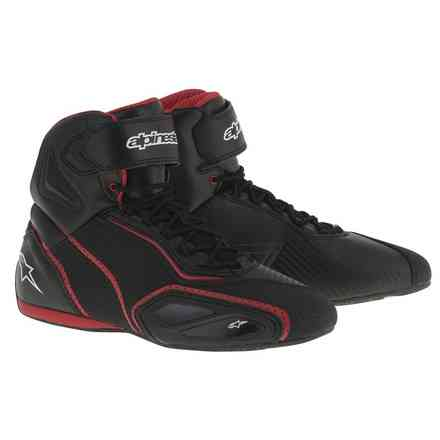 Chaussures Faster 2 vented noir-rouge Alpinestars