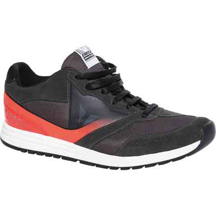 Chaussures Paddock  antracite rouge fluo Dainese