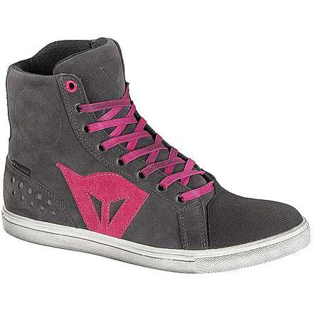 Chaussures pour femme Street biker d-wp  anthracite-fuxia Dainese