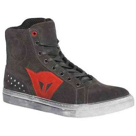 Chaussures Street Biker D-Wp Carbon Red Dainese
