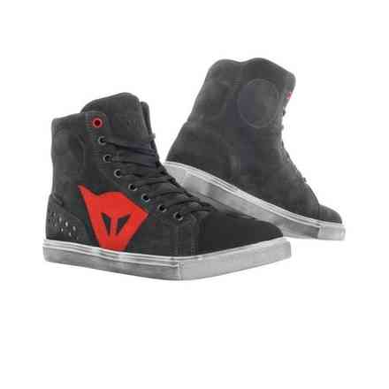 Chaussures Street Biker Lady D-Wp carbon red Dainese