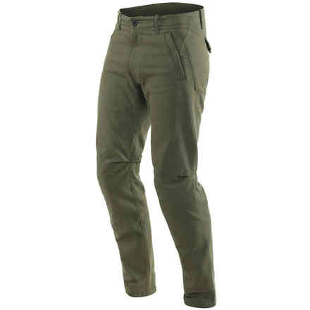 Chinos Tex Pants Olive Green Dainese