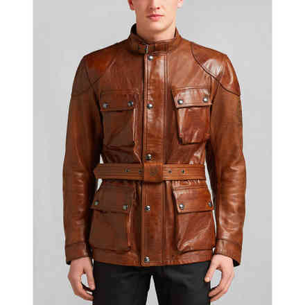 Classic Tourist Trophy brown Leather Jacket Belstaff