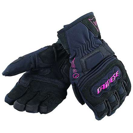Clutch Evo D-Dry Lady Gloves Black-Fuchsia Dainese