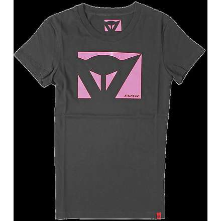 Color New T-shirt lady black-fuchsia Dainese