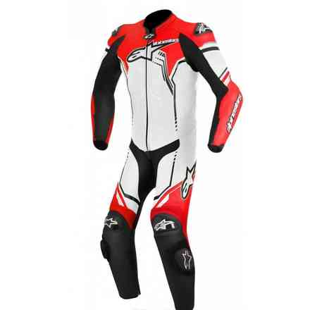Combinaison Gp Plus blanc rouge Alpinestars