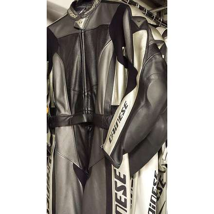 Combinaison T.div. Flanker Carbone/Or-Blanc Dainese