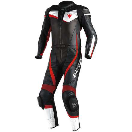 Combinaison Veloster Div. Black-Blanc-Rouge-Fluo Dainese