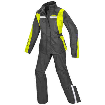 Completo impremeabile Touring Rain Lady Giallo Fluo Spidi