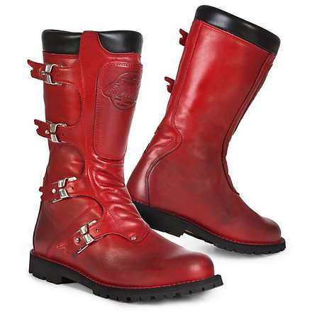 Continental red Boots Stylmartin
