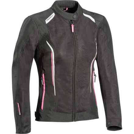 Cool Air Lady jacket black white fuxia Ixon