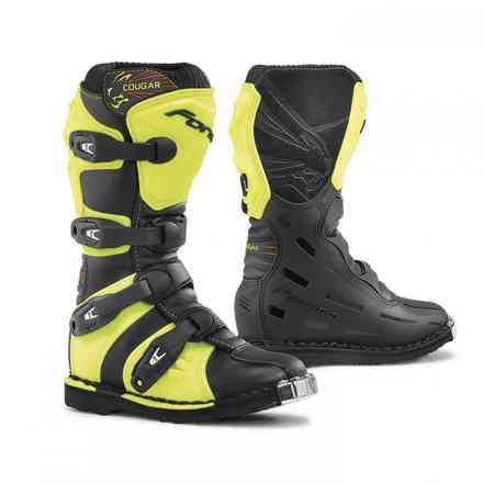 Cougar boots black yellow fluo Forma