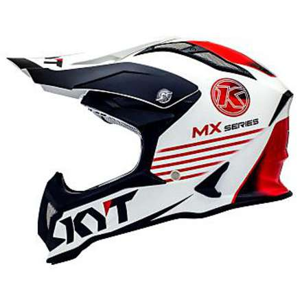 Cross helmet Strike Eagle K-Mx White-Red KYT