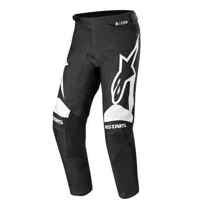Cross Racer Supermatic pants black white Alpinestars