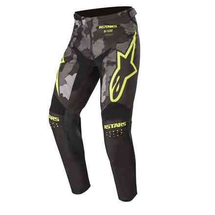 Cross Racer Tactical pants black gray camo yellow fluo Alpinestars