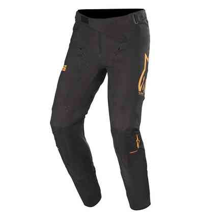 Cross Supertech pants black orange red fluo Alpinestars
