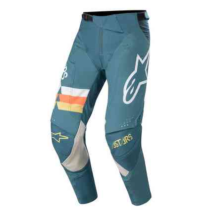 Cross Techstar Venom pants petrol white orange fluo Alpinestars